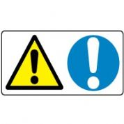 Multiple safety sign - Warning Mandatory 001